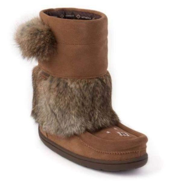 Manitobah Mukluks Waterproof Girls Winter Boots -32C / Oak - ShoeKid Canada