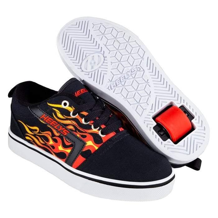 Heelys PRO 20 PRINTS – Black/Red/Flames - ShoeKid.ca