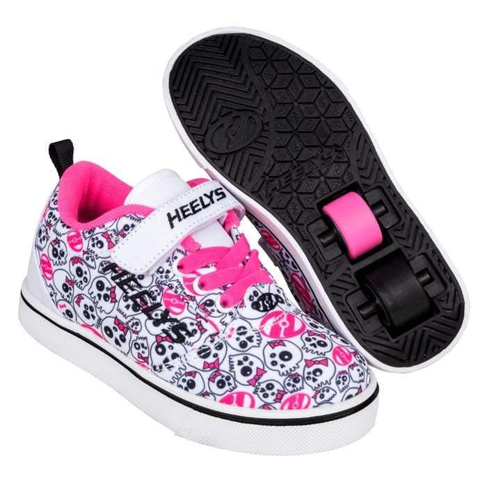 Heelys PRO 20 X2 - White/Black/Hot Pink/Skulls