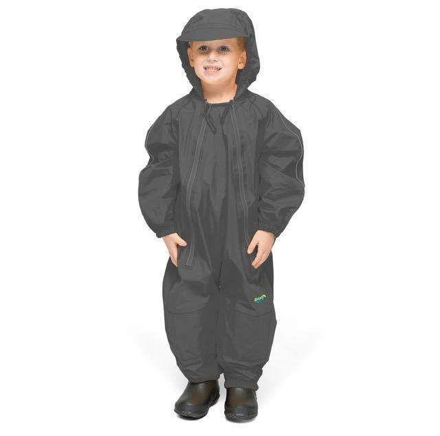 Splashy Kids Rain Suit Gray - 100% Waterproof - ShoeKid.ca