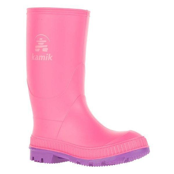 Kamik Kids' Stomp Pink Rose Girls Rain Boot (Made in Canada)
