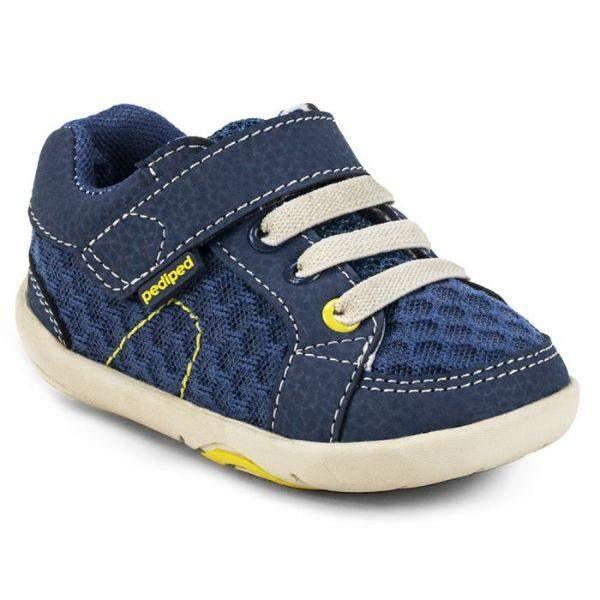 Pediped Dani Blue Lime Grip and Go Toddler Shoes (Machine Washable)