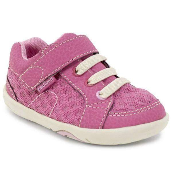 Pediped Dani Pink Grip and Go Toddler Shoes (Machine Washable) - ShoeKid.ca