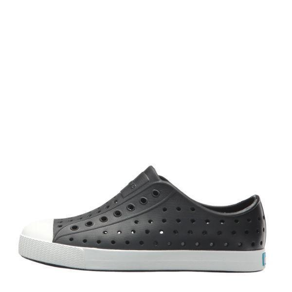 Jefferson Junior Jiffy Black / Shell White / Youth - shoekid.ca