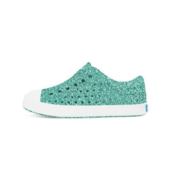 Native Jefferson Bling Child Pool Bling / Shell White - ShoeKid Canada