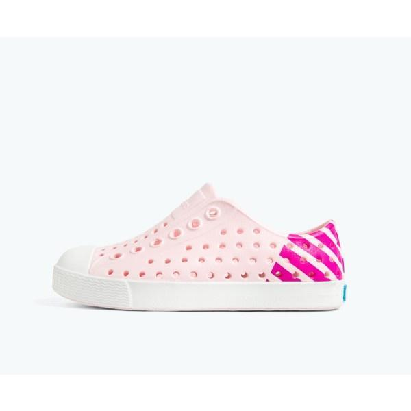 Native Jefferson Child Block Blossom Pink / Shell White - ShoeKid Canada