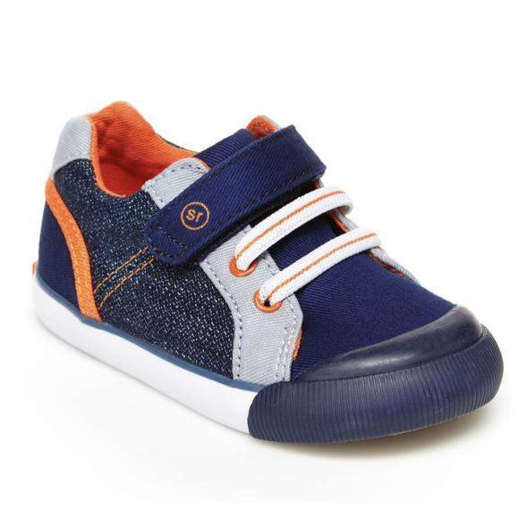 Stride Rite Parker Navy Boys Casual Shoes