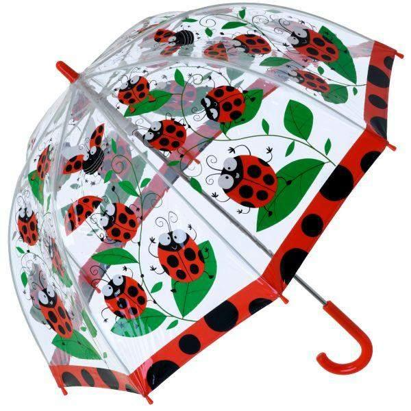 Bugzz Clear Dome Birdcage Kids Umbrella / LadyBug - ShoeKid Canada