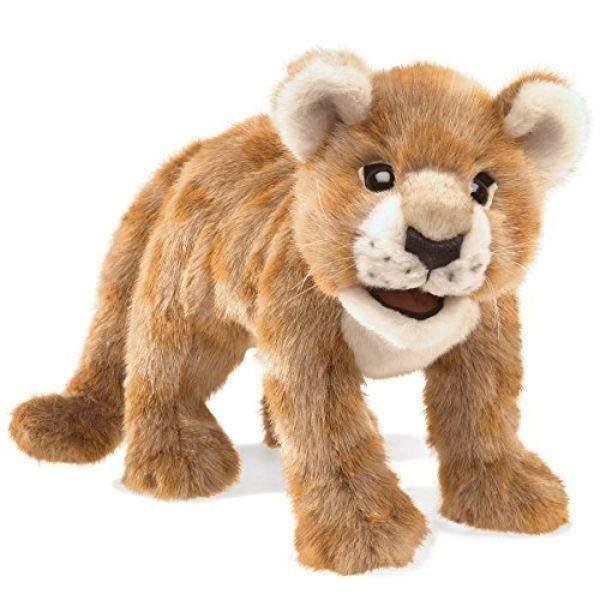 Folkmanis African Lion Cub Kids Hand Puppet