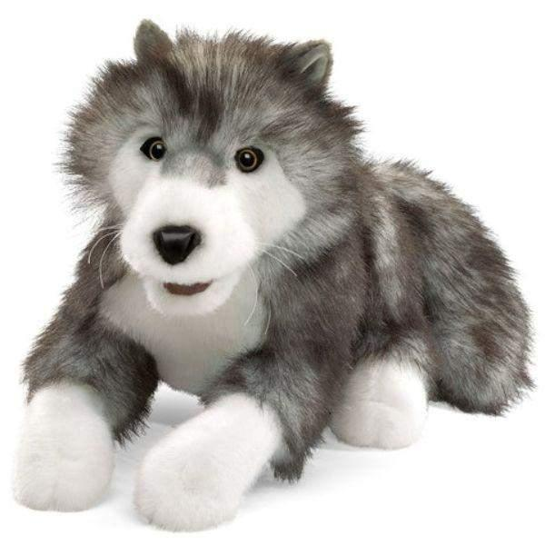 Puppet - Folkmanis Timber Wolf  Hand Puppet