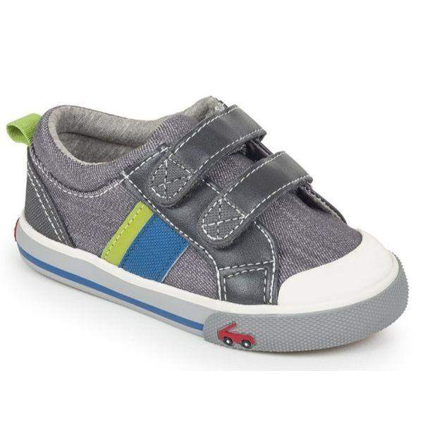 See Kai Run Russell Gray Baby Toddler Casual Shoes - ShoeKid.ca