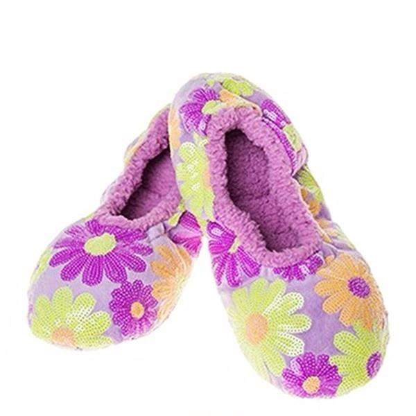 Snoozies Purple Daisy Indoor Slippers / Big Kids / Youth - ShoeKid Canada