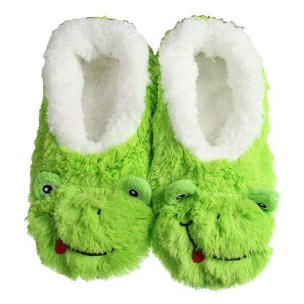 Snoozies Green Frog Indoor Slippers / Toddler / Little Kids