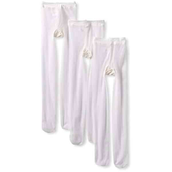 Jefferies Nylon Spandex Tights / White - shoekid.ca
