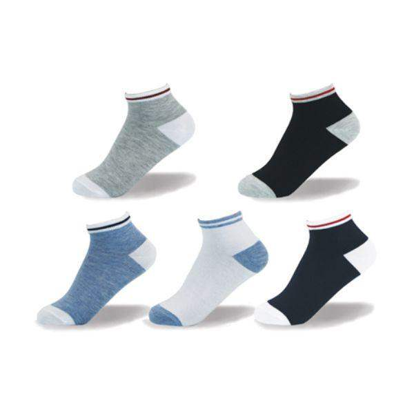 Point Zero Casual Athletic Kids Socks (5 Pairs)