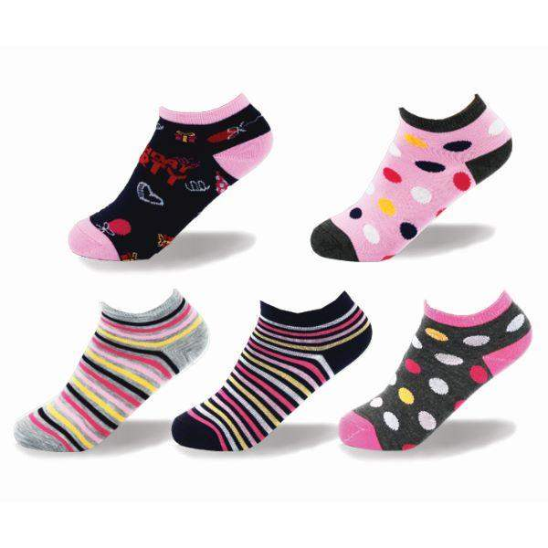 Point Zero Fun Birthday Casual Kids Socks (5 Pairs) - ShoeKid.ca