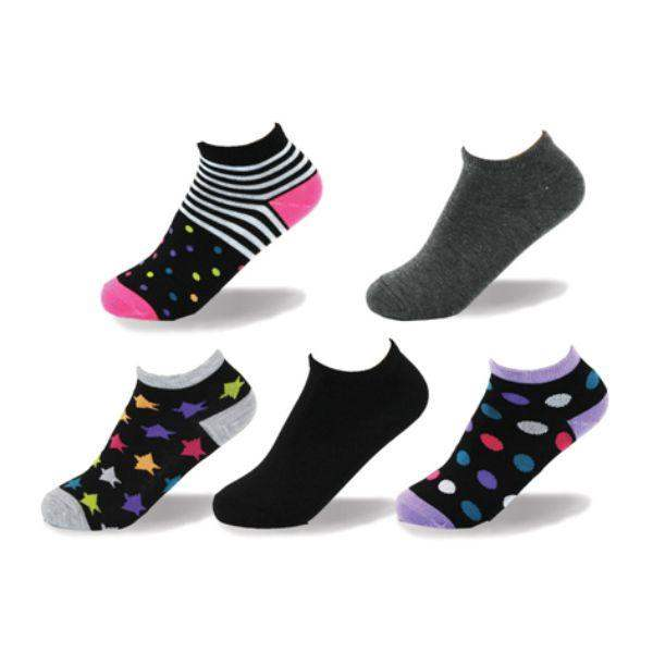 Point Zero Fun Design Dots Kids Socks (5 Pairs) - ShoeKid.ca