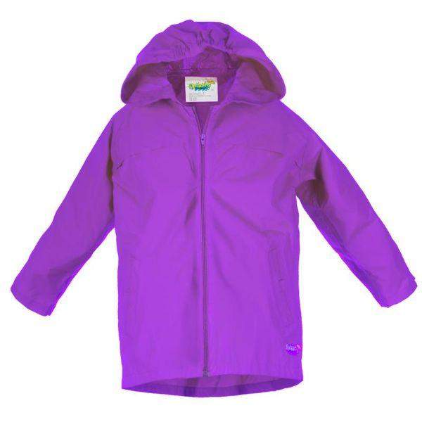 Splashy Kids Purple Rain Jacket 2.0  (Waterproof Zipper)