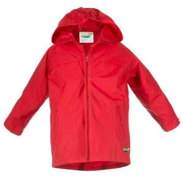 Splashy Kids Red Rain Jacket 2.0 (Waterproof Zipper)