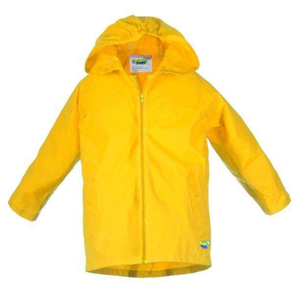 Splashy Kids Yellow Rain Jacket 2.0 (Waterproof Zipper)