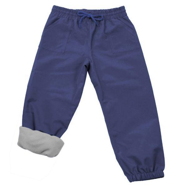 Fleece Lined Rain Pants Navy 100% Waterproof & Warm