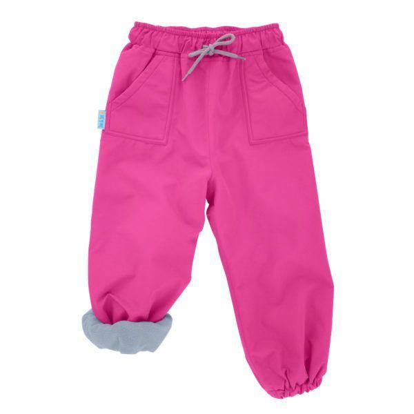 Fleece Lined Rain Pants Pink / 100% Waterproof