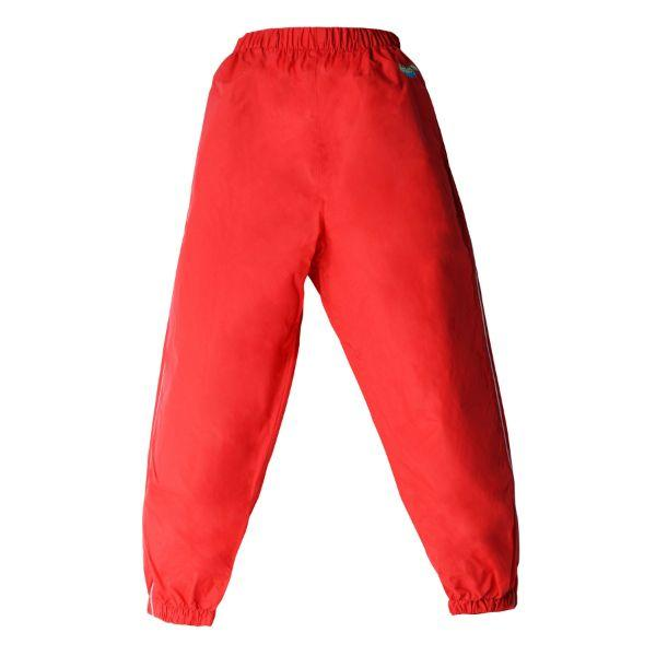 Splashy Kids Rain Pants Red (100% Waterproof)