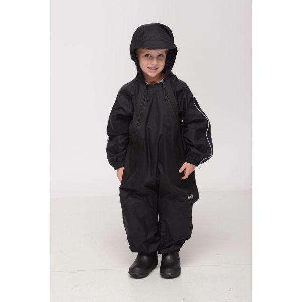 Splashy Kids Rain Suit Black -100% Waterproof - ShoeKid.ca