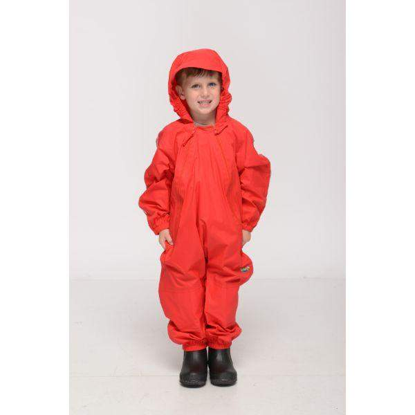 Splashy Kids Rain Suit Red - 100% Waterproof