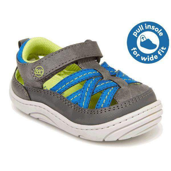 Stride Rite Boys Soft Motion Amos 2.0 Toddler Leather Sandals - ShoeKid.ca