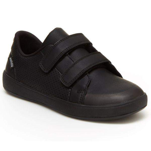Stride Rite Jude Boys Black Uniform Shoes