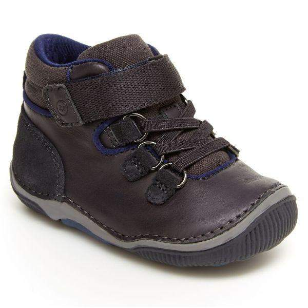Stride Rite Gavin Gray Toddler Leather Boots