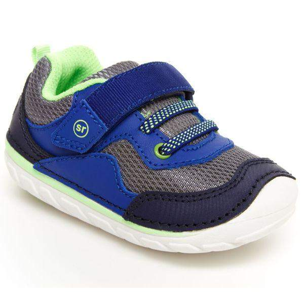 Stride Rite RHETT Navy Lime Baby Toddler Sneaker