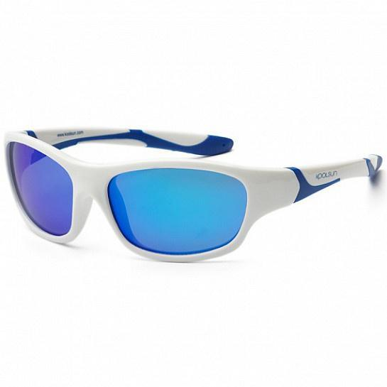 Koolsun Sport Kids SunGlasses / UV Protection/White Royal Blue