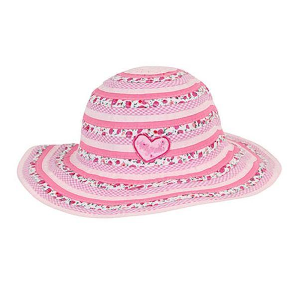 Millymook Kids Sun Hat Girls Floppy Sweetheart 50+UV Rating