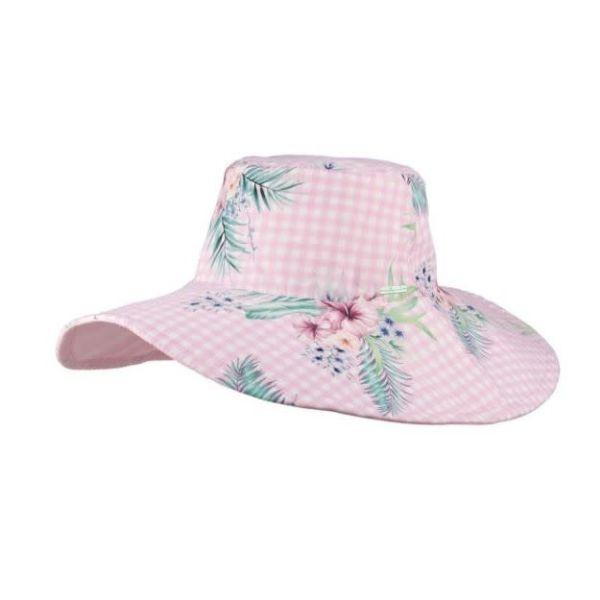 Sunhat - Millymook Kids Sun Hat Girls Wide Brim Abby 50+UV Rating