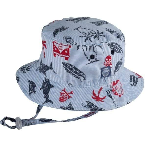 BABY BOYS BUCKET SUNHAT KAI BLUE / 50+ UPF - shoekid.ca