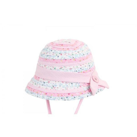 Sunhats - BABY GIRLS BELL SUNHAT PATCHWORK PINK / UPF50+ UV Rating