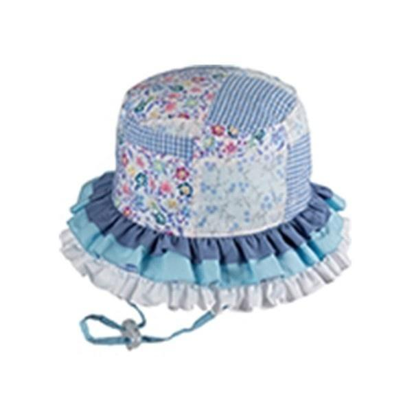 BABY GIRLS BUCKET RAH RAH BLUE SUNHAT / UPF50+ UV rating - ShoeKid Canada
