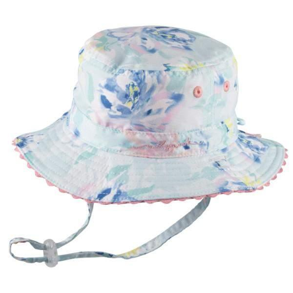 BABY GIRLS BUCKET SUNHAT- BLUSH MINT / 50+ UPF PROTECTION - ShoeKid Canada