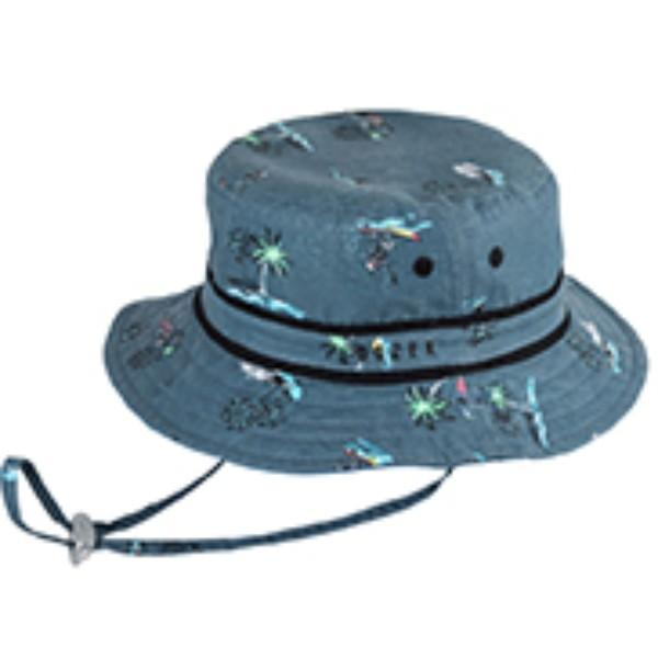 Sunhats - BOYS BUCKET BARE BONES BLUE / 50+ UPF