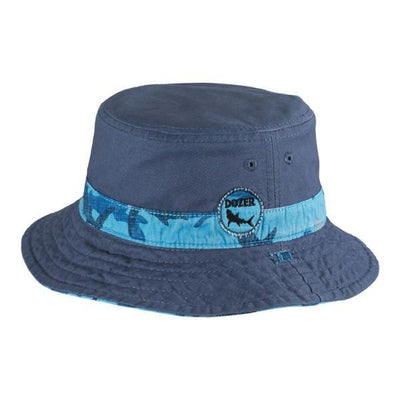 BOYS BUCKET SUNHAT REEF BLUE / 50+ UPF - shoekid.ca