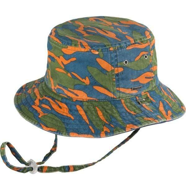 BOYS BUCKET ZEPHYR NAVY SUNHAT / 50+ UPF - shoekid.ca
