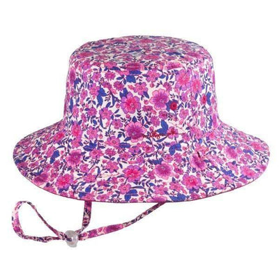 GIRLS FLOPPY - RUBY PINK SUNHAT / 50+ UPF PROTECTION - shoekid.ca