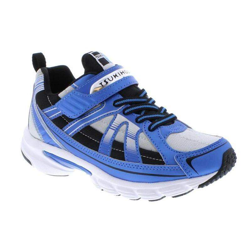 Tsukihoshi Storm Blue Gray Boys Running Shoes (Machine Washable) - ShoeKid.ca