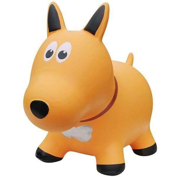 Toys - Farm Hoppers Inflatable Bouncing Yellow Dog With Pump