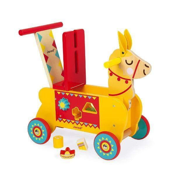 Toys - Janod Llama Ride On Wooden Kids Toys