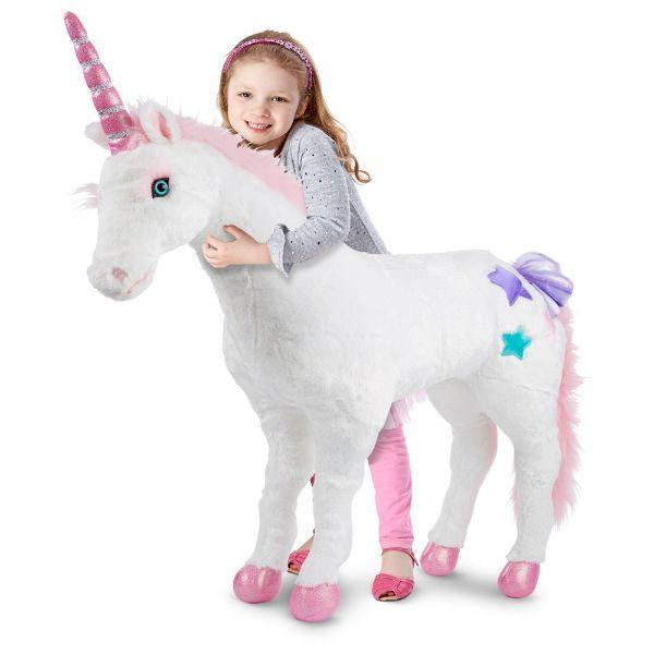 Melissa & Doug Giant Unicorn - Lifelike Stuffed Animal
