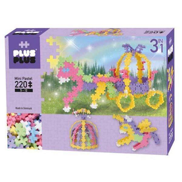 Plus Plus Mini Basic 220pcs - Unicorn & Carriage