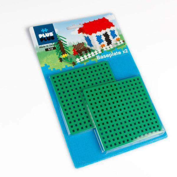 Toys - Plus Plus Baseplate Duo Pack, 2 Pcs, Green